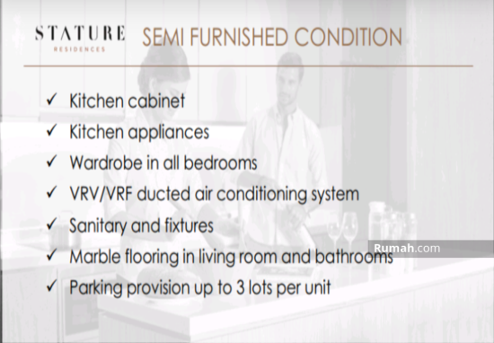 The stature jakarta Semifurnished condition 86707336