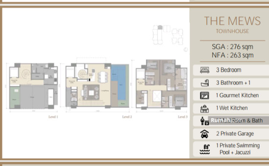 The stature jakarta LAY OUT 276 SQM 86709280