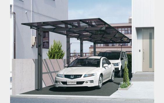 Tiga jenis lantai untuk carport di rumah rumah dan gaya for House car parking designs