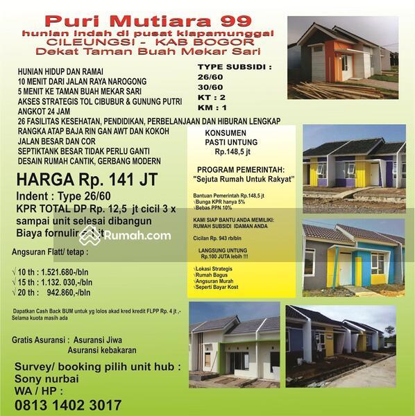 Rumah Subsidi Murah Di Cileungsi Bogor 79111025