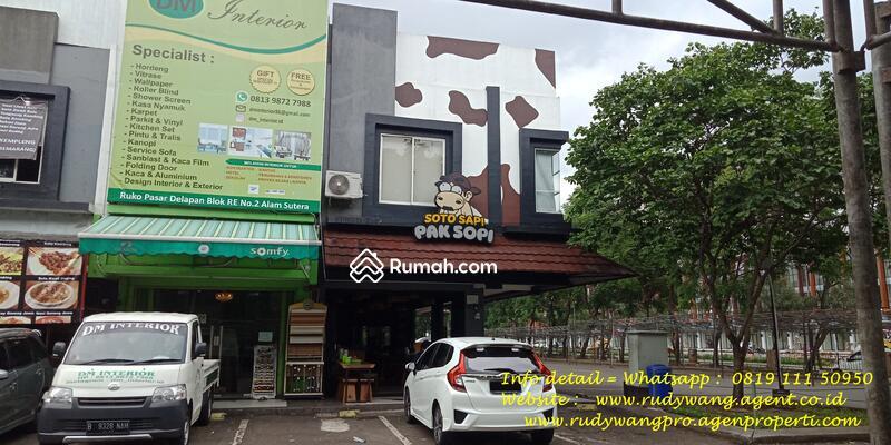 Ruko Pasar Modern Alam Sutera Lokasi Hoek Hadap Jalan Raya Ramai Pembeli Wisata Kuliner Tenda