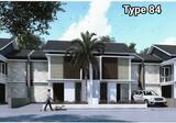 >> DIJUAL Rumah baru jalan utama Ciwaruga, 1M-an modern minimalis, lebar muka 8 meter