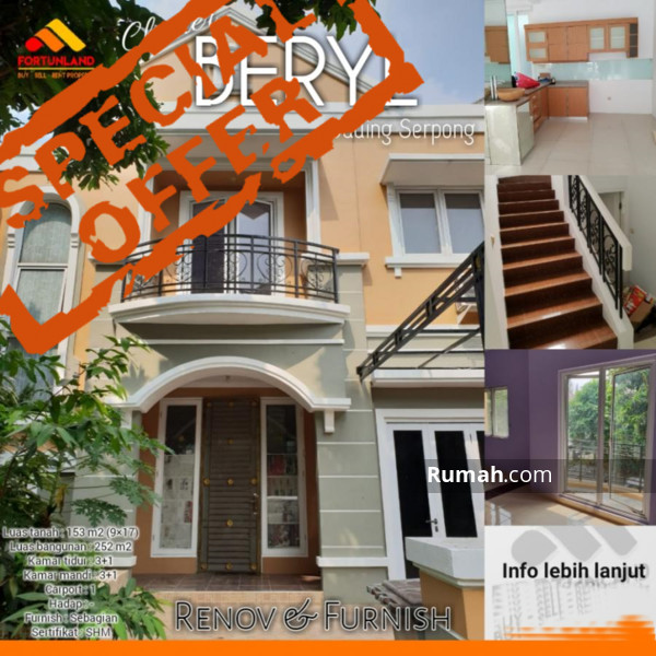 7400 Koleksi Gambar Rumah Cluster Beryl Gading Serpong HD Terbaik