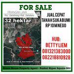 Dijual cepat tanah di Sukabumi