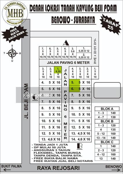 Tanah Kavling Murah dan Strategis di Benowo Surabaya #94457119
