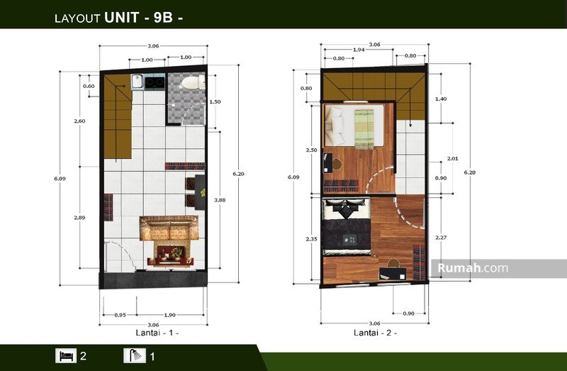 Cluster Daun 2 Lantai dengan Lokasi Terbaik dan Nyaman #94607079