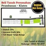 Tanah 1 jutaan permeter murah area Prambanan dekat candi prambanan