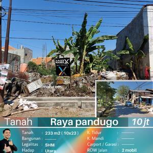 Dijual - Dijual tanah pandugo surabaya sudah urug siap bangun lokasi nol jalan strategis bebas banjir