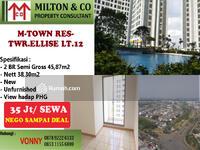 Disewa - Disewakan apartemen 2BR tower ellise di lantai 12 dengan harga nego sampai deal