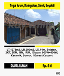Rumah plus Tanah di Sawit Boyolali