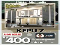 Dijual - Rumah Murah Jakarta Pusat Kemayoran, Cluster Murah Jakarta Pusat Harga Apartemen