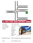 Jalan: Paris 2 Komplek: Regetta Residence