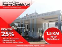 Dijual - Area Stratagis Kota Bogor, Kavling Tanah Cluster Pesona Cilendek Asri; Diskon 25%