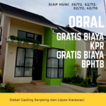 Ready Dekat Gading & Lippo Krwci Grtis Biaya