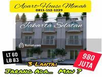 Dijual - Rumah 3 Lantai Jagakarsa Jakarta Selatan Akses Dekat Stasiun KRL Tanjung Barat dan Pintu Tol Jorr