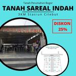 Tanah SHM Area Tanah Sereal-Bogor Dekat St. Cilebut: Diskon 25%