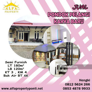 Dijual - Rumah Pondok Pelangi, Karya Baru, Pontianak, Kalimantan Barat