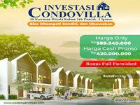 Dijual - Villa Murah di Puncak Cipanas Promo hanya 500 Jutaan Free SHM & Full Furnished