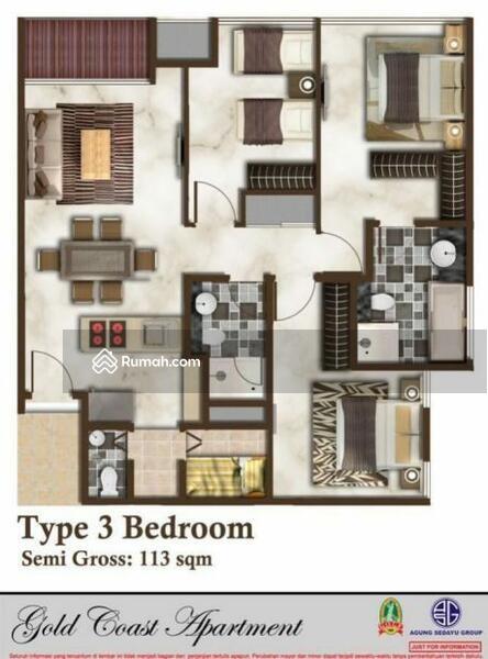 Dijual Apartment Gold Coast gandeng 3br+1br #99991261
