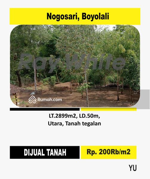 Tanah Nogosari Boyolali 200rb/m² #100369373