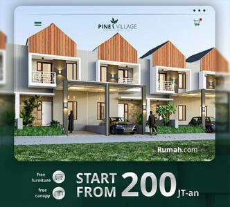 Dijual - Rumah 200 Jutaan Poros Jl Raya di Pine Village Malang