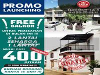 Dijual - Raden V Residence 2 Lantai Konsep Townhouse Di Cibinong Diskon 80 Jt