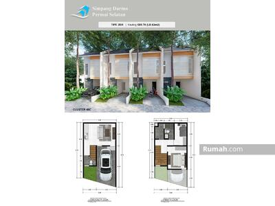 Dijual - Rumah Baru Minimalis di Simpang Darmo Permai Selatan Harga 990 juta an