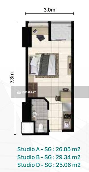 Dijual Apartemen Alam Sutera, Pacific Garden, Lantai 7, Lake View #101730575