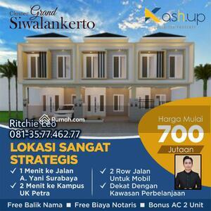 Dijual - Rumah Murah Minimalis Tengah Kota Grand Siwalankerto Surabaya