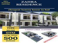 Dijual - Cluster zahra residence di jual termurah 100% di jamin untung di bsd