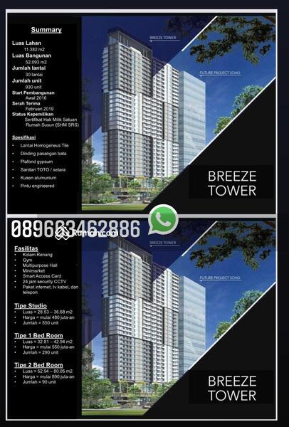 Breeze Tower - Bintaro Plaza Residences #105443005