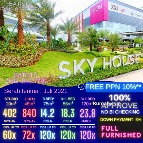 Apartment Sky House BSD+ (samping AEON MALL) #103913247