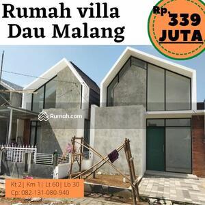 Dijual - Rumav villa di Dau Malang dekat kota wisata batu, pondok pesantren arohmah, tazkia, sengkaling dll