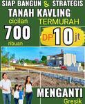 Tanah Kavling barat Surabaya Dp 10 jt cicilan 700 ribuan harga cash cuma 38 jt Sangat Strategis