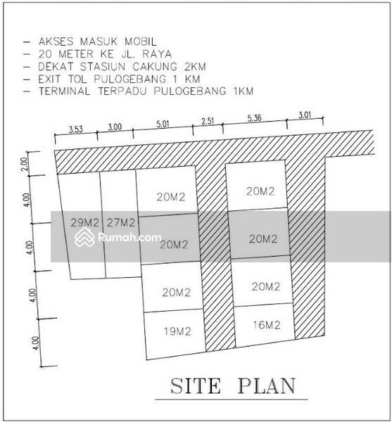 Siteplan Rumah Minimalis Pulogebang Cakung Jakarta Timur