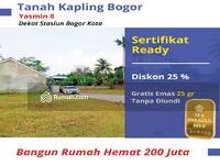 Dijual - Nempel Perumahan Yasmin, Tanah Kapling Luas 90m2 Legalitas SHM-P