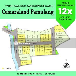 Dijual - Kapling Tangerang Selatan, Sertipikat, Lokasi Strategis Pangkas 25%