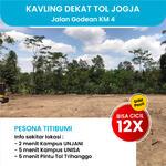Tanah Premium di Banyuraden, Jl Godean km 4. Cicil 12 Bulan Tanpa Bunga