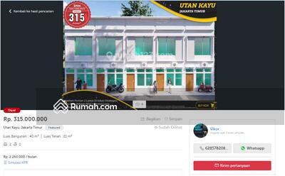 Dijual - UTAN KAYU GG mangga Jakarta timur