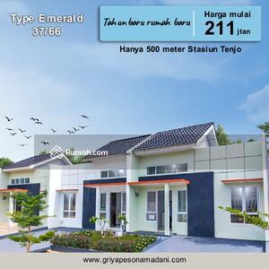 Dijual - Rumah indah lingkungan nyaman bebas banjir harga terjangkau dp 10jt langsung akad