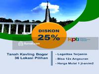 Dijual - Tanah Kavling Area Pemda Cibinong, Legalitas SHM. Diskon 25%