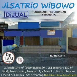 Dijual - DIJUAL Ruko SHM di Jl. Satrio Wibowo, Tlogosari, Semarang