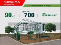 Dijual - Rumah Bogor Premium Hemat 200 Juta di Tanah Kavling Yasmin