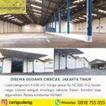 Gudang Ciracas Jakarta Timur 4000 m2 siap huni