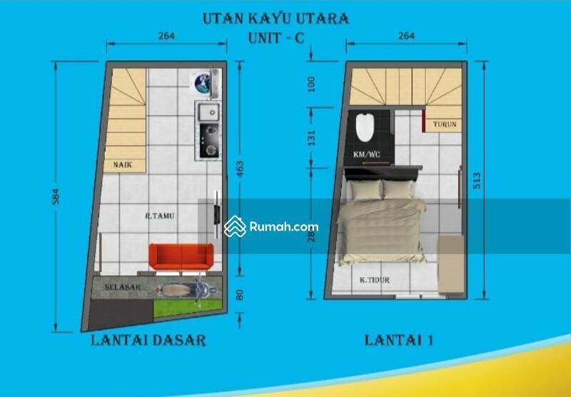 Rumah minimalis perkotaan utan kayu Jakarta timur #104793363