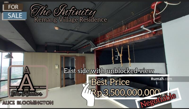 Dijual infinity 130 m2 non furnished, industrial finishing rp 3.5 milyar nego