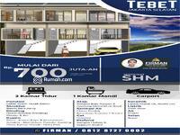Dijual - Rumah Cluster Murah Di Tebet, Jakarta Selatan. Harga Apartemen Murah