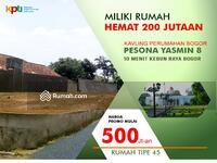 Dijual - Rumah Hemat 200 Juta di Tanah Kavling Yasmin Bogor Barat