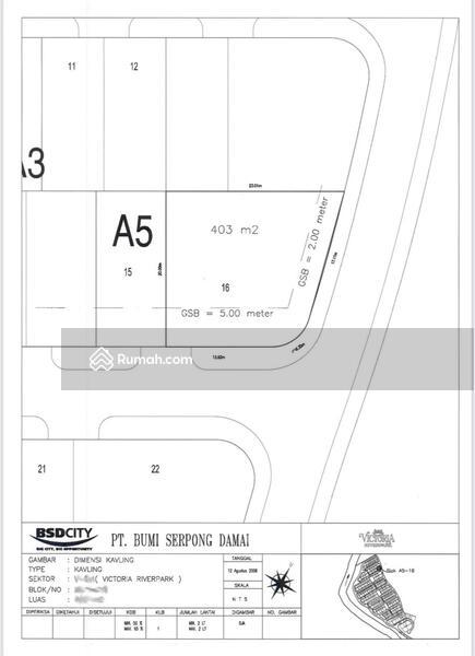 Kavling Hoek Di Victoria Riverside BSD City Tangerang #105209735