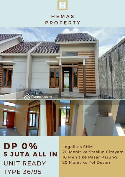 Rumah Siap Huni Akses Dekat Stasiun Citayam, Bebas DP dan Biaya KPR. Cicilannya Cuma 3 Jutaan #105212651